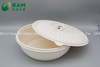 Food Grade Fully Biodegradable Compostable Disposable Sugarcane Plant Fiber Takeaway Canteen Food Bowl Container for Fruits Soup
