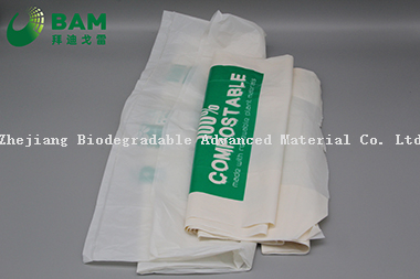 Sustainable Packing Biodegradable Plastic Custom Color Supermarket Shopping Carrier T-Shirt Bags for Vegetables Fruit