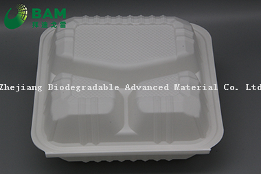 Fully Biodegradable Multi 3 Compartment Disposable Plastic Food Container Compostable Sugarcane Plant Fiber Take-Away Food Containers