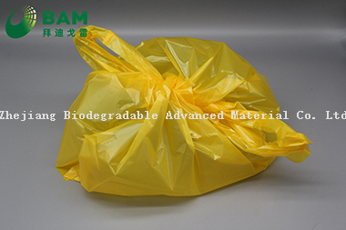 Sustainable Packing Biodegradable Tie Handle Custom Color Plastic Supermarket Shopping T-Shirt Bags for Vegetables Fruit Eco Friendly Plastic Garment Bags